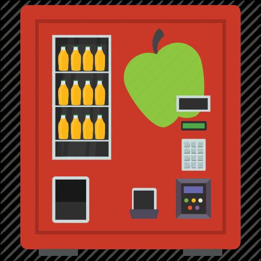 Apple Juice, Automated Machine, Coin Machine, Kiosk Machine