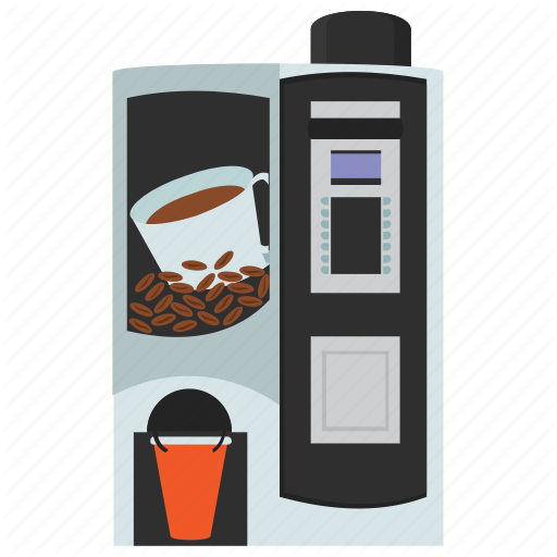 Automated Machine, Cappuccino Dispenser, Coffee Vending, Kiosk