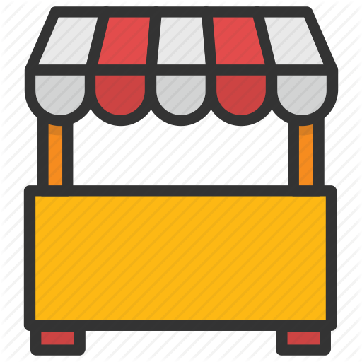 Booth, Food Stand, Kiosk, Market Stand, Vendor Icon