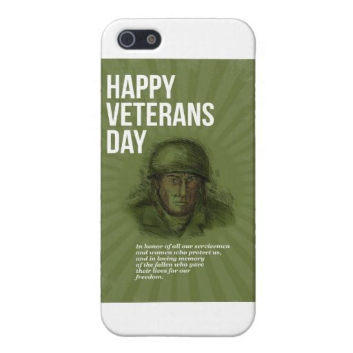 World War Two Veterans Day Soldier Card Sketch Case For Iphone