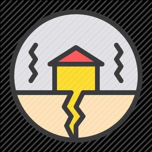 Building, Disaster, Earthquake, Natural, Shake, Vibration Icon