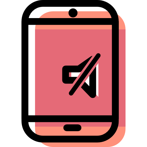Smartphone, Mute, Vibration Icon Free Of Color Desktops