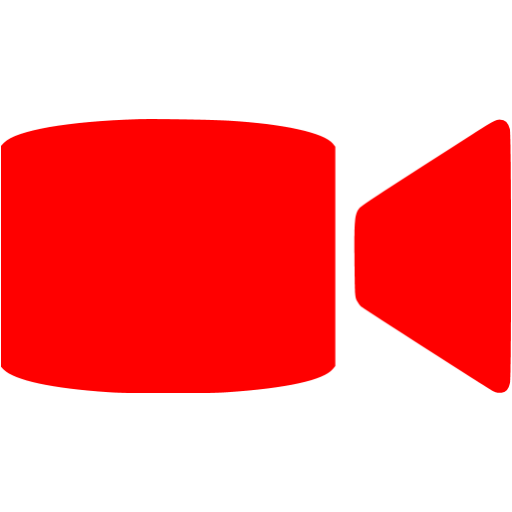 Red Video Call Icon
