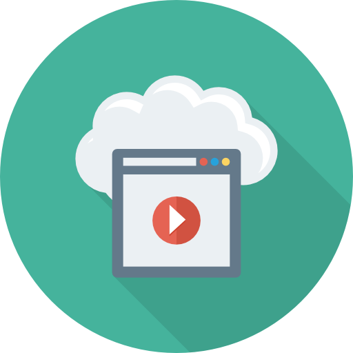 Video Icon Cloud Computing Dinosoftlabs