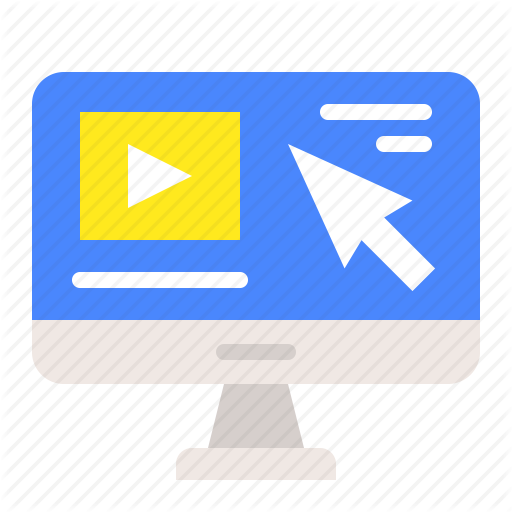 Desktop, E Learning, Education, Learning, Video Clip Icon