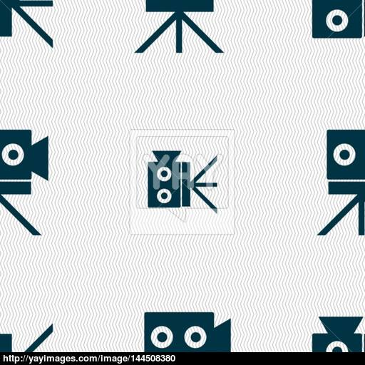 Video Camera Sign Button Seamless Abstract