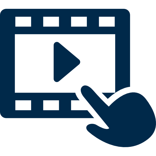 Icon For Click On Video