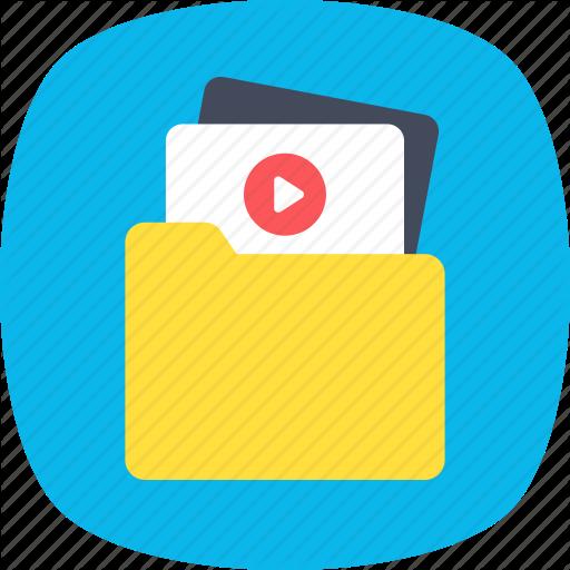 Archives, Storage, Folder, Video File, Video Folder Icon