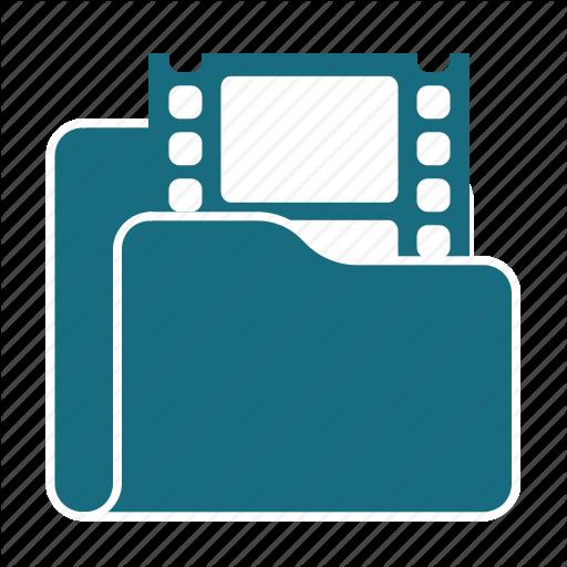 Cinema, Film, Folder, Media, Movie, Play, Video Icon