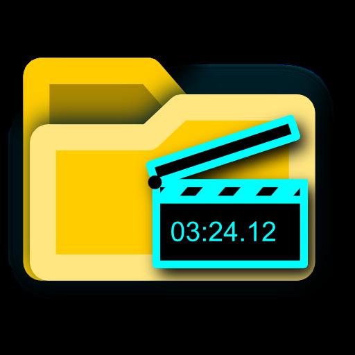 Folder, Film, Movie, Video Icon