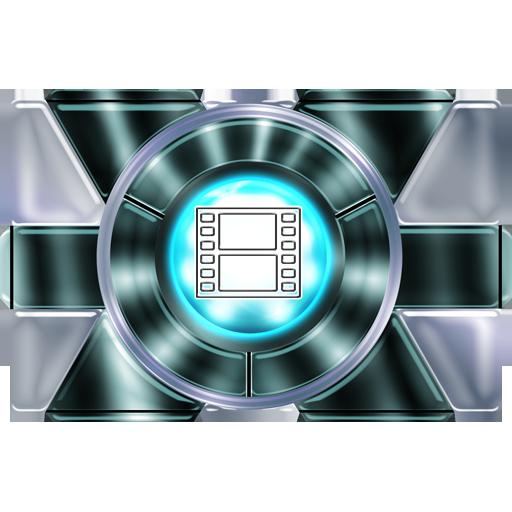 Silver Folder Video Icon