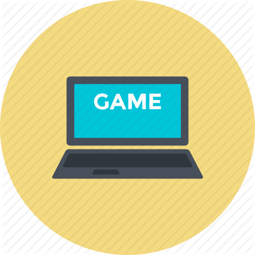 Internet Game, Laptop, Online Game, Play Game, Video Game Icon