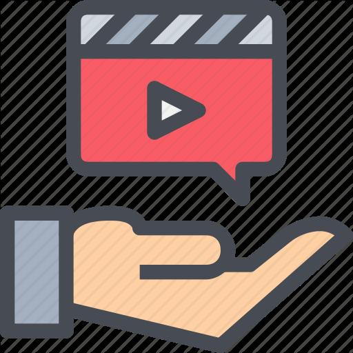 Hand, Media, Movie, Multimedia, Production, Video Icon