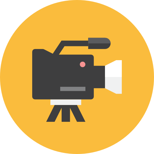 Cropped Video Camera Icon Flavor Productions