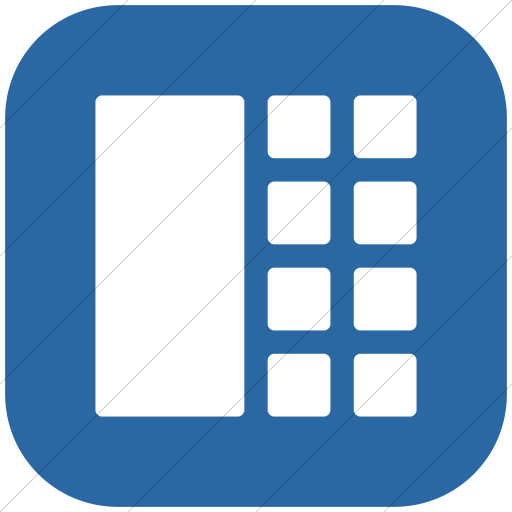 Flat Rounded Square White On Blue Layouts Rounded