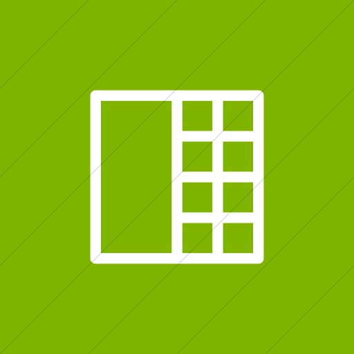 Flat Square White On Green Layouts Outline Details View
