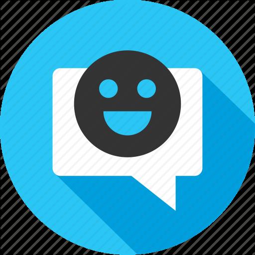 Chat, Emoji, Online, Seo, Sms, Talk, Web Icon Icons Flat Style