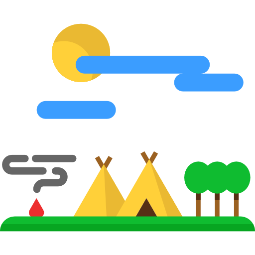 Tent, Indian, Travel, Village Icon