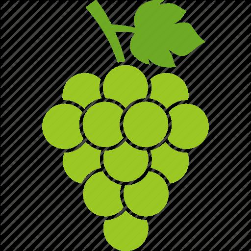 Berries, Grape, Grapes, Grapevine, Leaf, Vineyard, White Icon