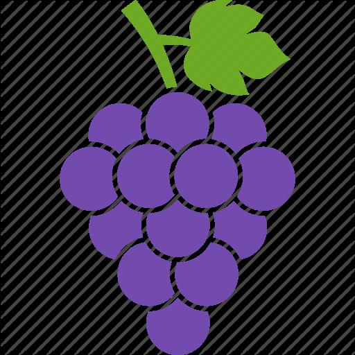 Berries, Grape, Grapes, Leaf, Purple, Vineyard, Wine Icon
