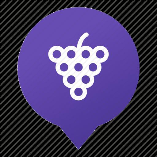 Food, Fruit, Grape, Markers, Vine, Vineyard, Wsd Icon