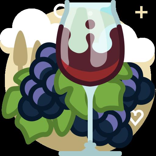 Glass, Bunch, Grape, Vineyard, Yumminky, Wine, Drink Icon