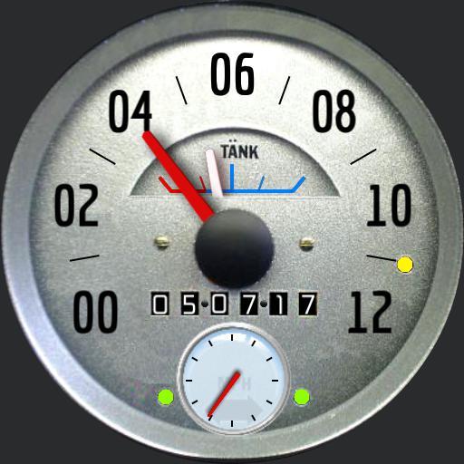 Vintage Speedometer Round Watchfaces For Smart Watches