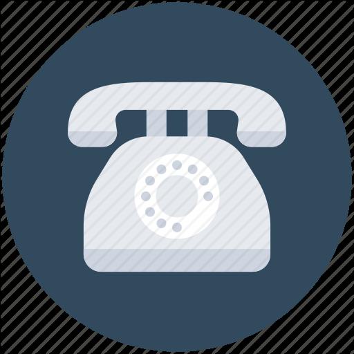 Contact Us, Landline, Phone, Telephone, Vintage Phone Icon