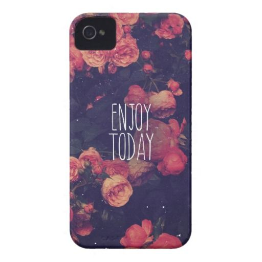 Cool Girly Pink Roses Vintage Enjoy Today Photo Case Mate Iphone