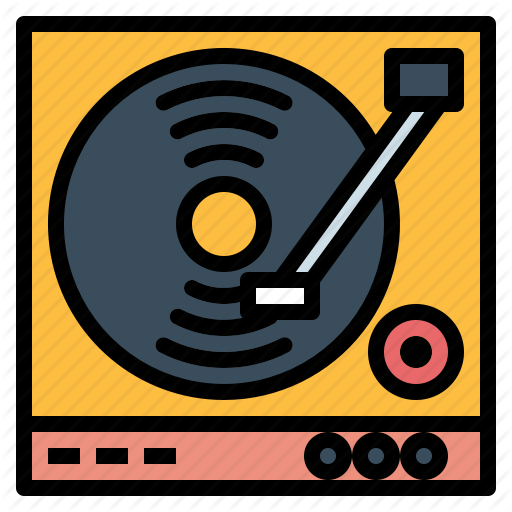 Dj, Turntable, Vinyl Icon