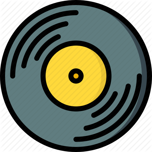 Hipster, Music, Record, Retro, Vintage, Vinyl Icon
