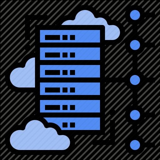 Cloud, Computing, Data, Platform, Process, Server, Virtual Icon