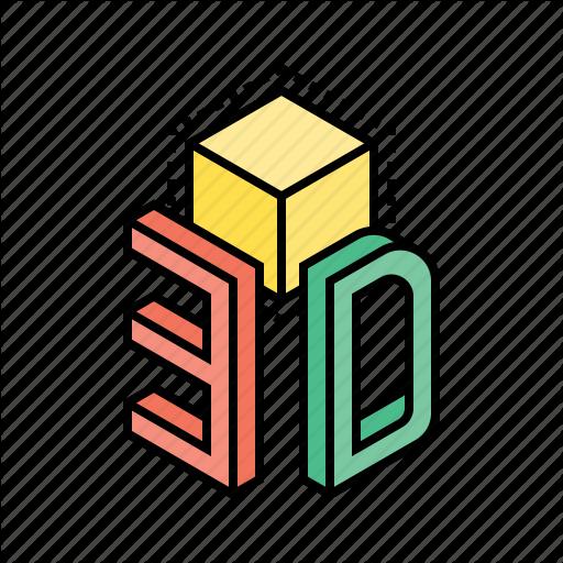 Cube, Design, Dimension, Model Icon
