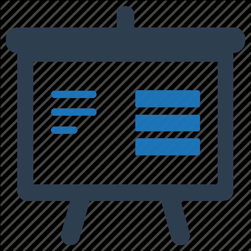 Blackboard, Finance, Presentation, Report, Sales Icon