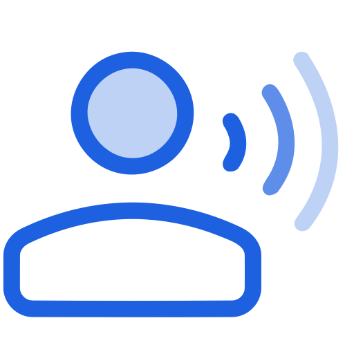 Accessibility, Management, Talk, Voice, Voice Control Icon
