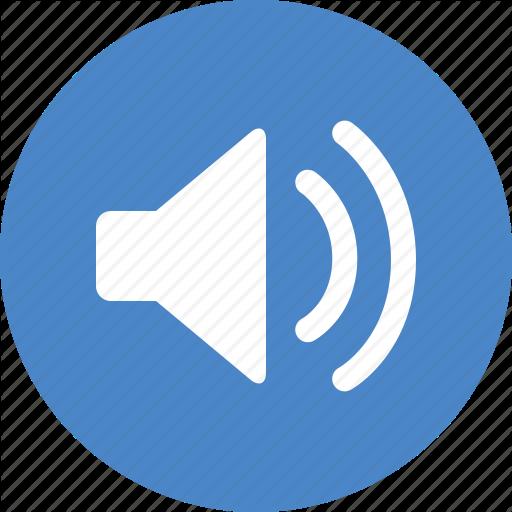 Blue, Circle, Music, Sound, Sounds, Speaker, Volume Icon