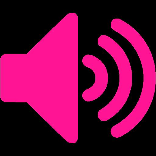 Deep Pink Volume Up Icon