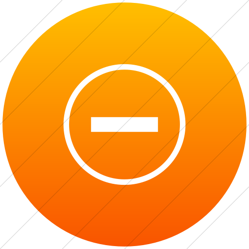 Flat Circle White On Orange Gradient Classica Decrease
