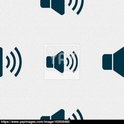 Speaker Volume Icon Sign Seamless Pattern With Geometric Texture