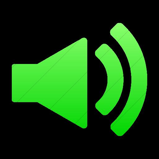 Simple Ios Neon Green Gradient Foundation Volume Icon