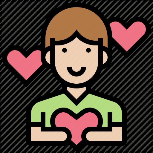 Aid, Almsman, Friend, Volunteer, Willingness Icon