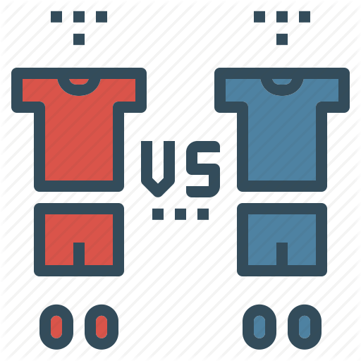 Competition, Football, Match, Soccer, Team, Uniform, Vs Icon