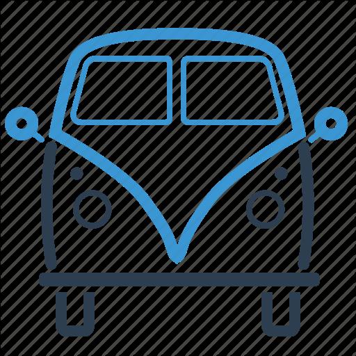 Campervan, Car, Life On Wheels, Minivan Icon