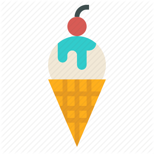 Cone, Cream, Ice, Sweet, Vanilla, Waffle Icon