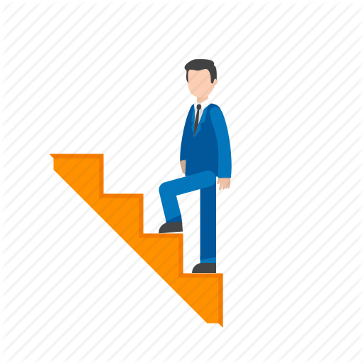 Climbing, Climbing Stairs, Man, Stairs, Upwards, Walking Icon