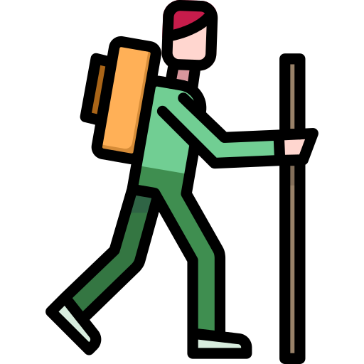 Hiker Walk Png Icon