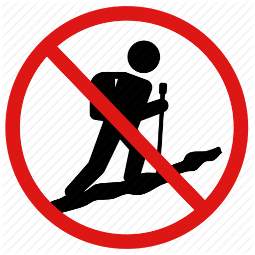 Hiking, No, Prohibited, Trekking, Walking Icon