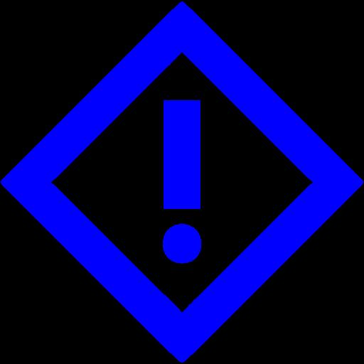 Blue Warning Icon