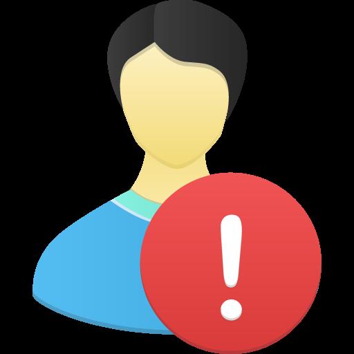 Male User Warning Icon Flatastic Iconset Custom Icon Design