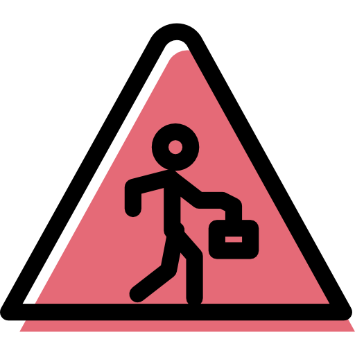 Alert, Traffic Sign, Pedestrian, Warning, Signs, Danger, Triangle Icon